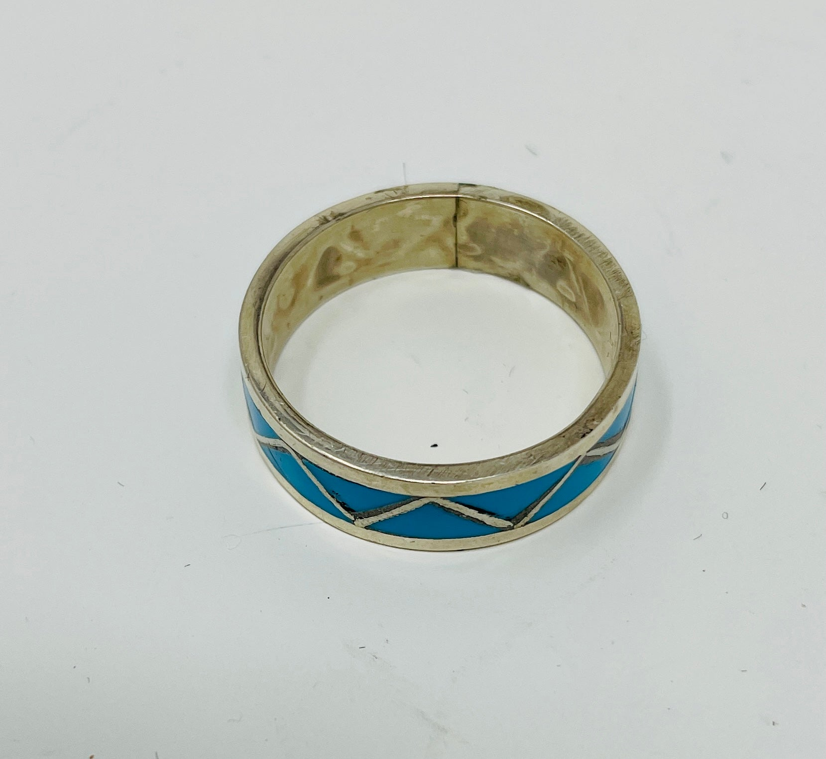 Zuni Chanel Inlay Ring with Turquoise