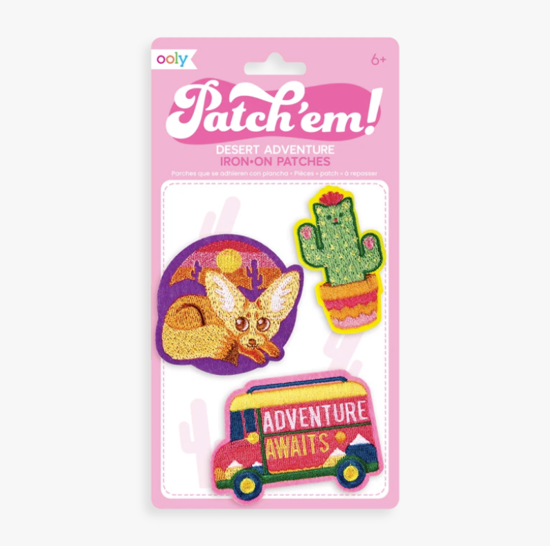Patch 'em Desert Adventure Iron on Patches