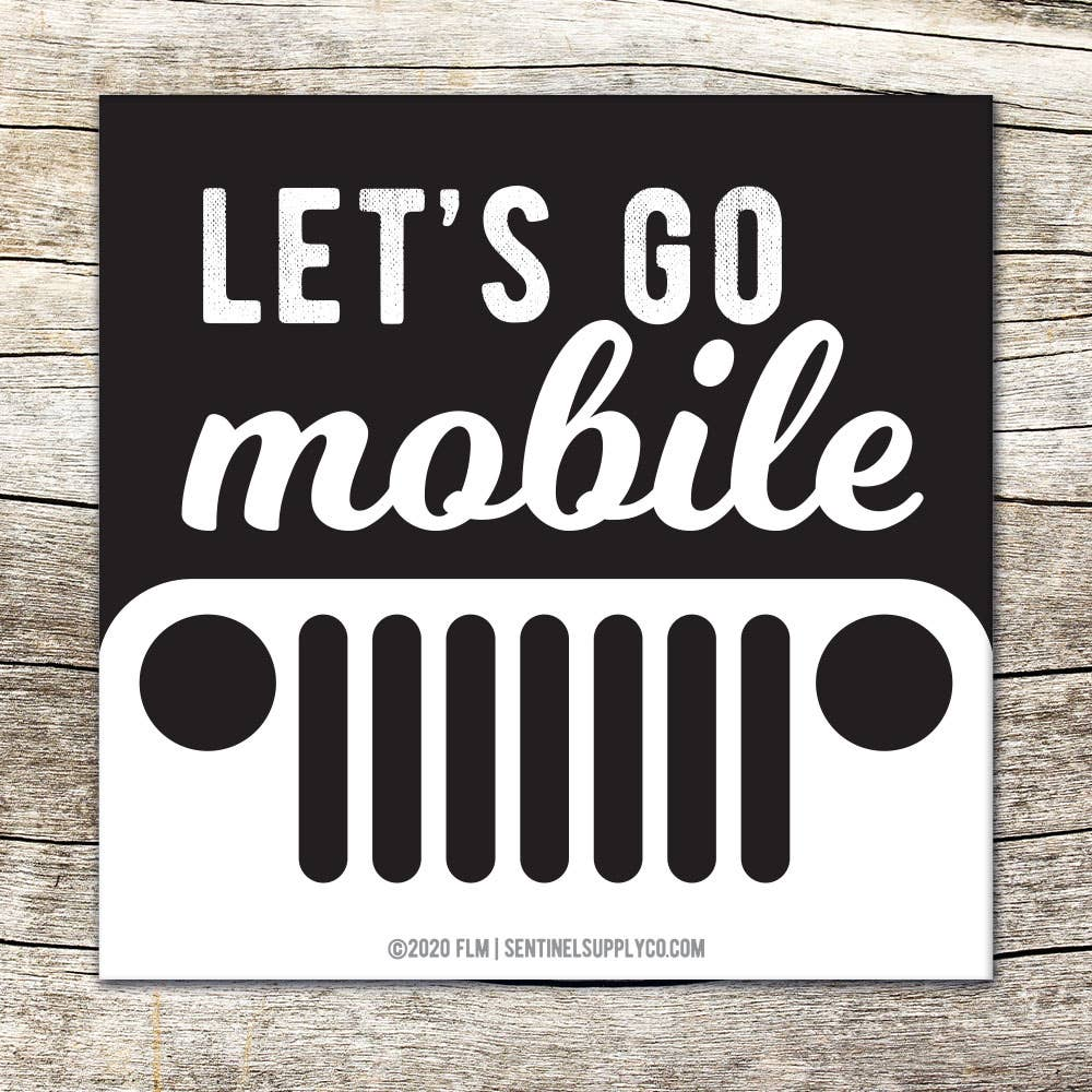 Lets Go Mobile Jeep Wrangler Offroad Bumper Sticker