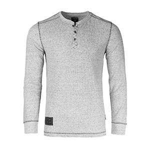 Long Sleeve Lightweight Burnout and Heather Athletic Henley