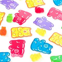 Gummy Bears Clear Vinyl Sticker Pack