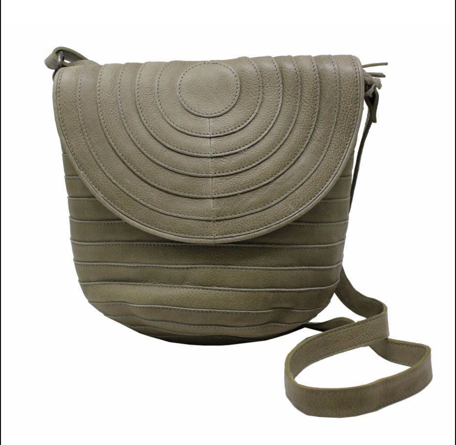 Jesse Leather Crossbody Handbag - Pistachio