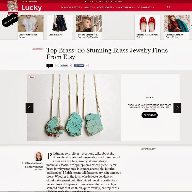LUCKY MAGAZINE WEBSITE – 20 STUNNING JEWELRY FINDINGS | Boutique Minimaliste