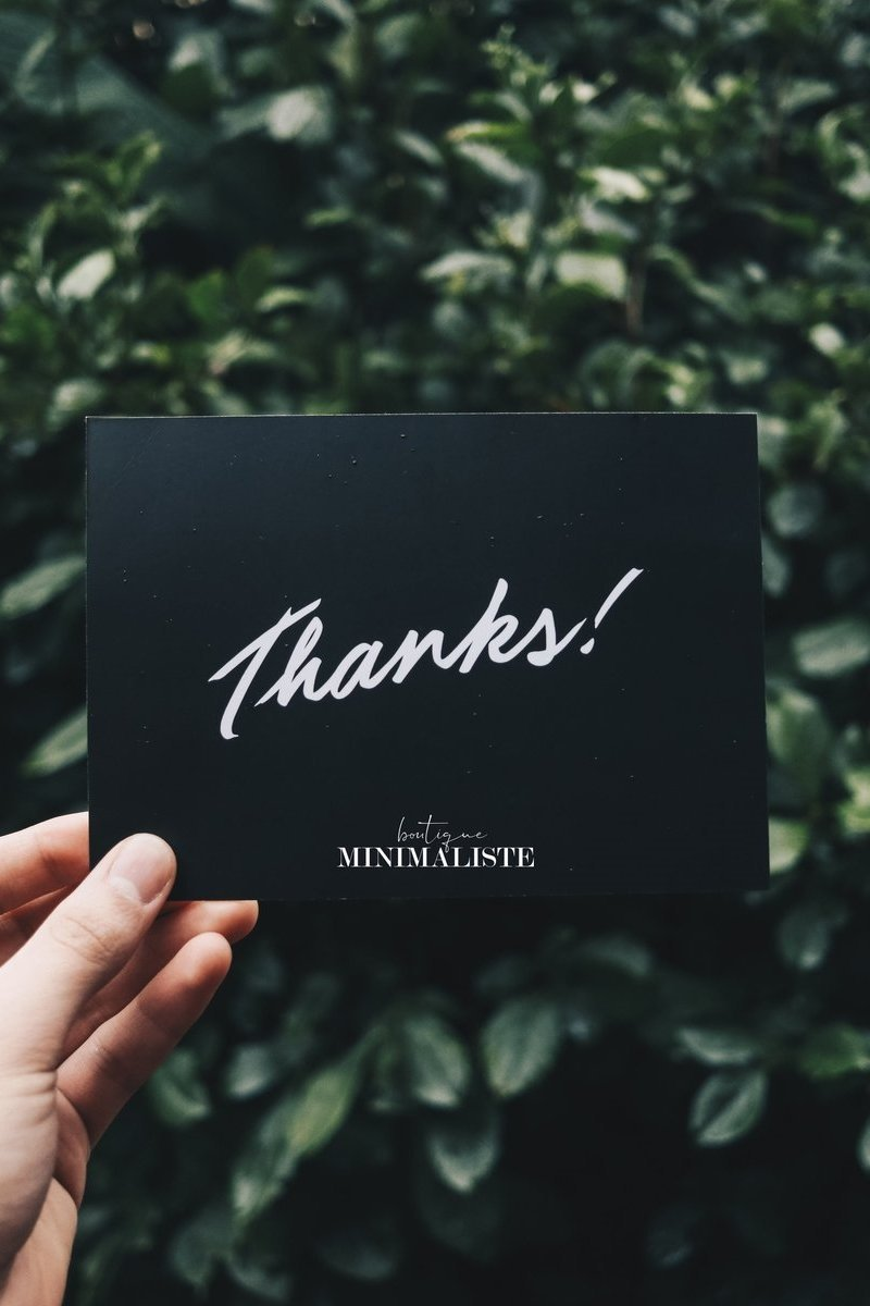 Our thank you - REWARD PROGRAM | Boutique Minimaliste