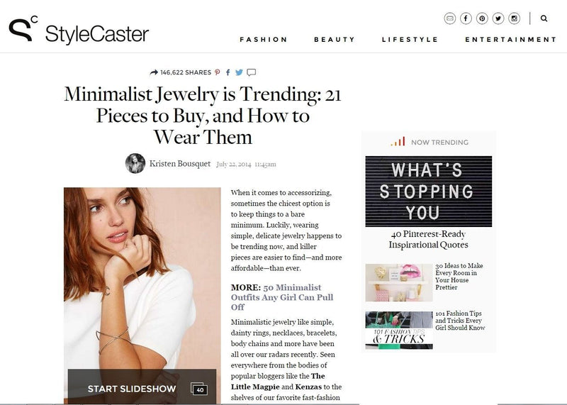 STYLECASTER WEBSITE | Boutique Minimaliste