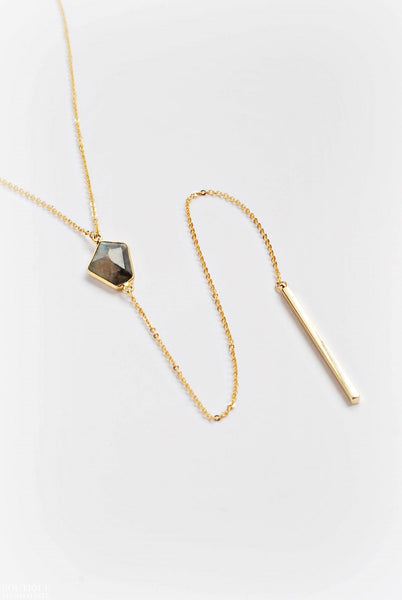 Fancy Labradorite Lariat Necklace