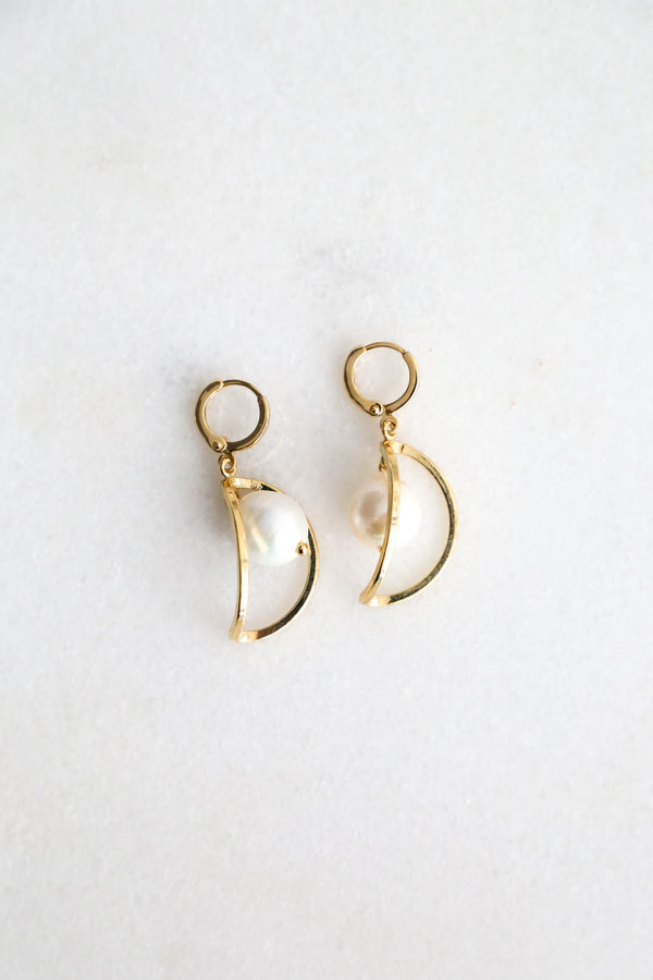 World on a Pearl Earrings