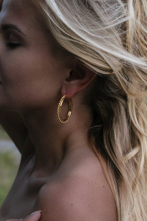 Anaïs Hoop Earrings - Boutique Minimaliste