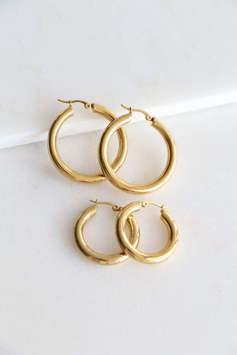 Antonia Hoop Earrings - Boutique Minimaliste