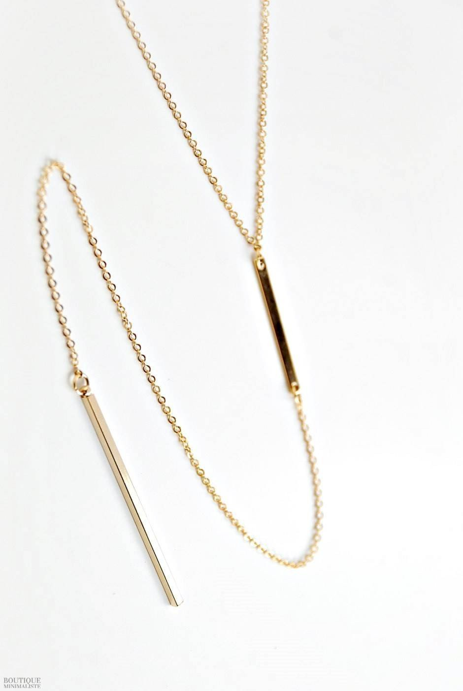 Bar Lariat Necklace - Boutique Minimaliste