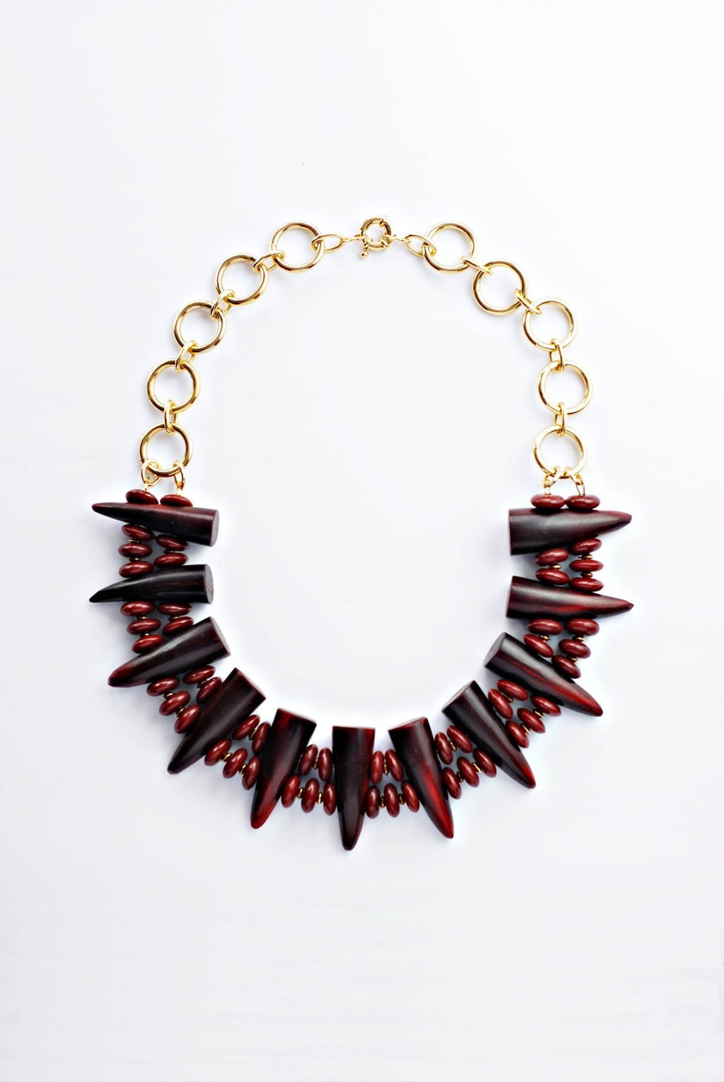 Burgundy Horns Necklace - Boutique Minimaliste