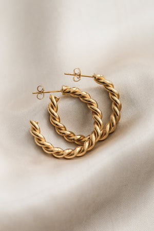 Carrie Hoop Earrings - Boutique Minimaliste