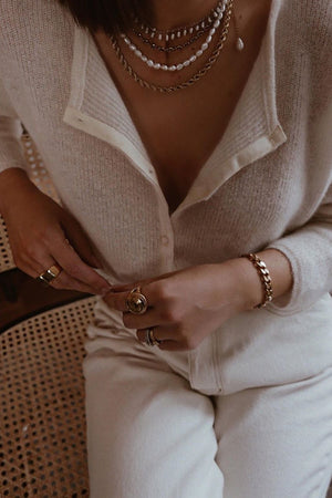 Classic Pearl Necklace - Boutique Minimaliste