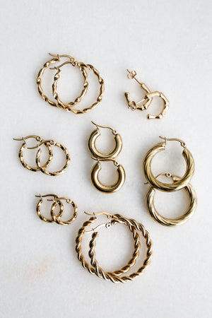 Diane Hoop Earrings - Boutique Minimaliste
