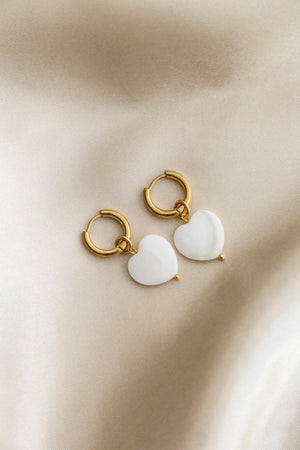 Emmeline Heart Hoop Earrings - Boutique Minimaliste