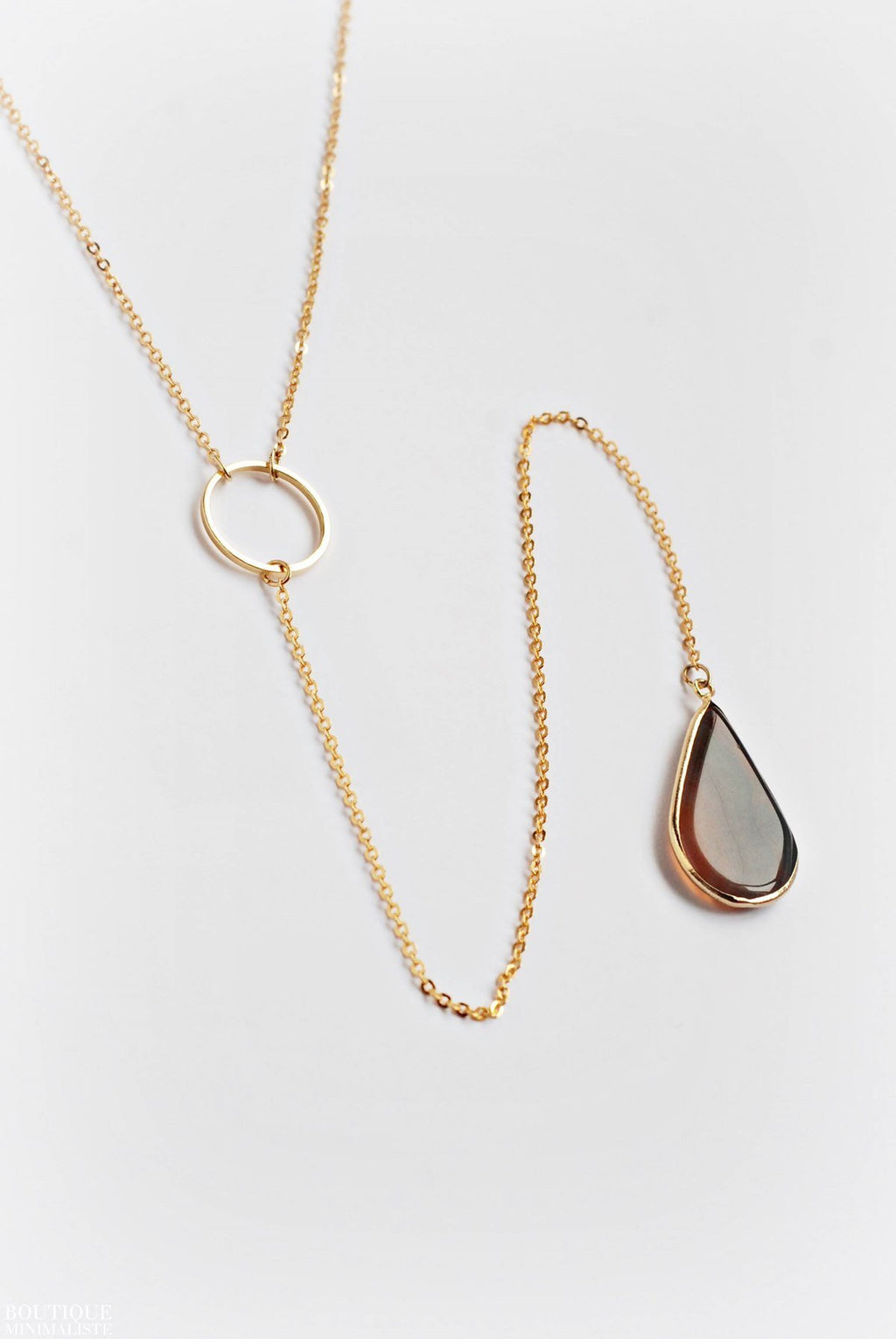 Geometric Lariat Necklace - Boutique Minimaliste