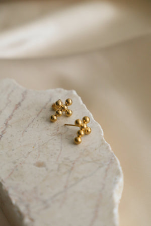 Grace Cross Earrings - Boutique Minimaliste