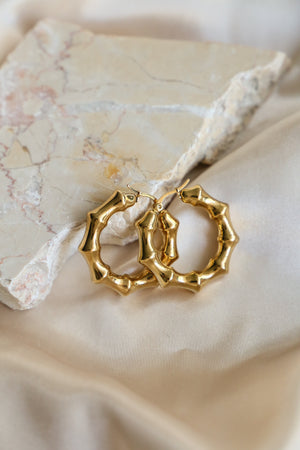 Lara Hoop Earrings - Boutique Minimaliste