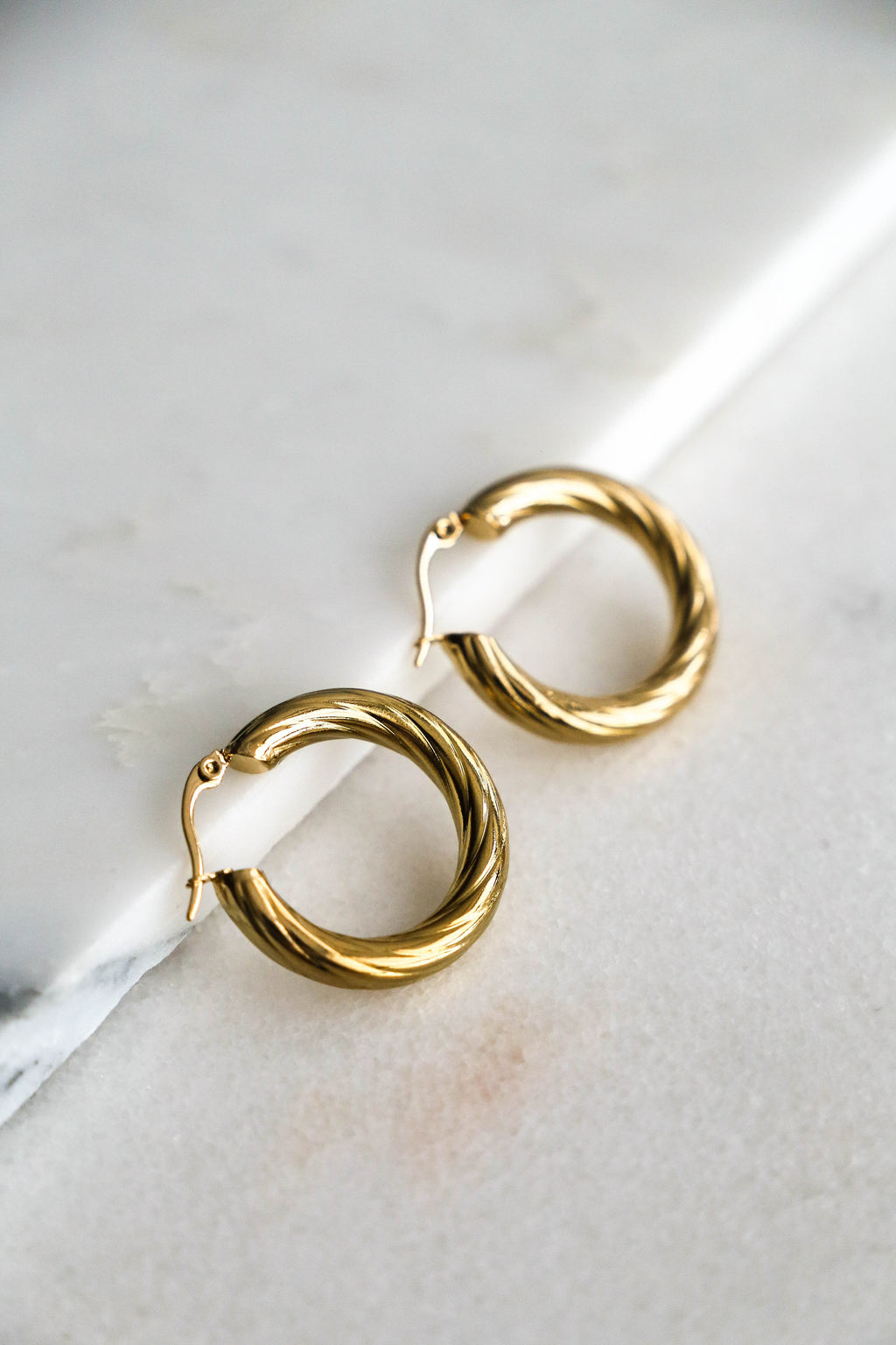 Lea Hoop Earrings - Boutique Minimaliste