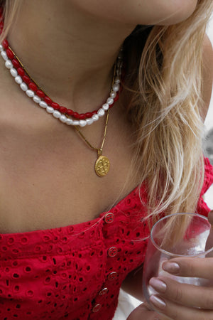 Red Coral Reef Necklace - Boutique Minimaliste