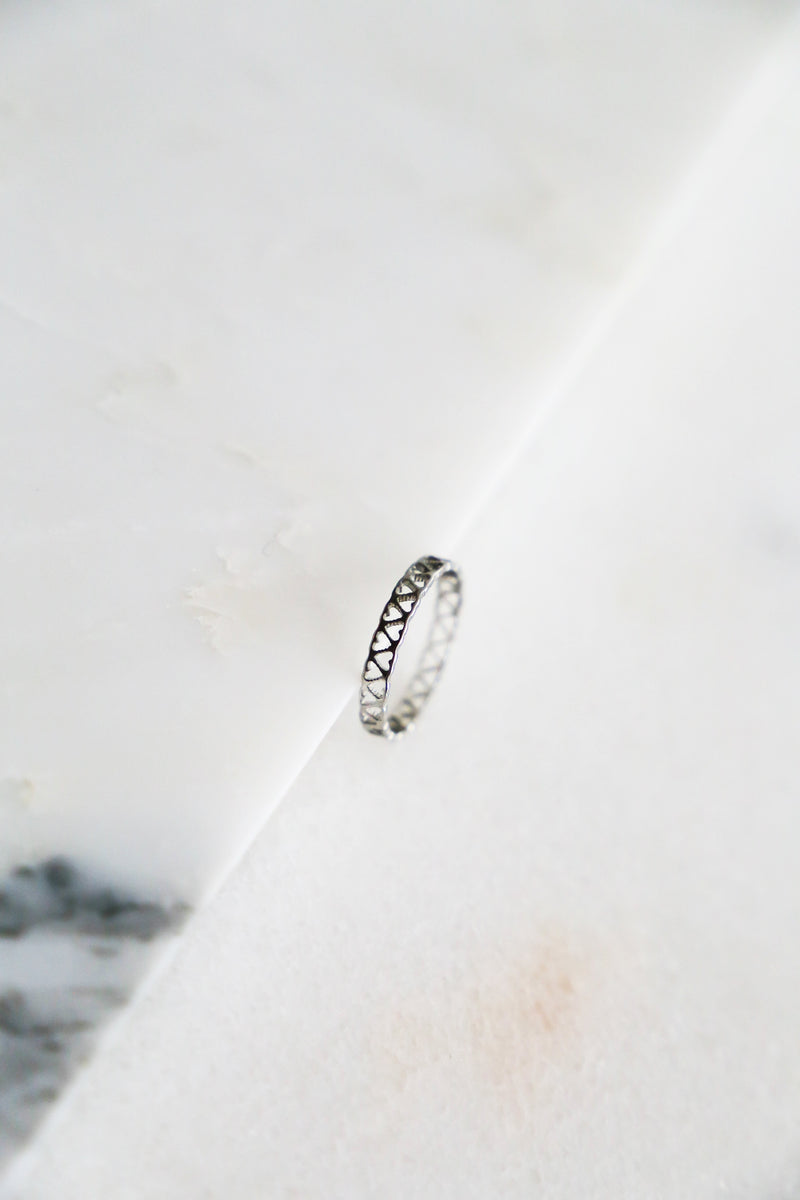 Silver Hearts Ring - Boutique Minimaliste