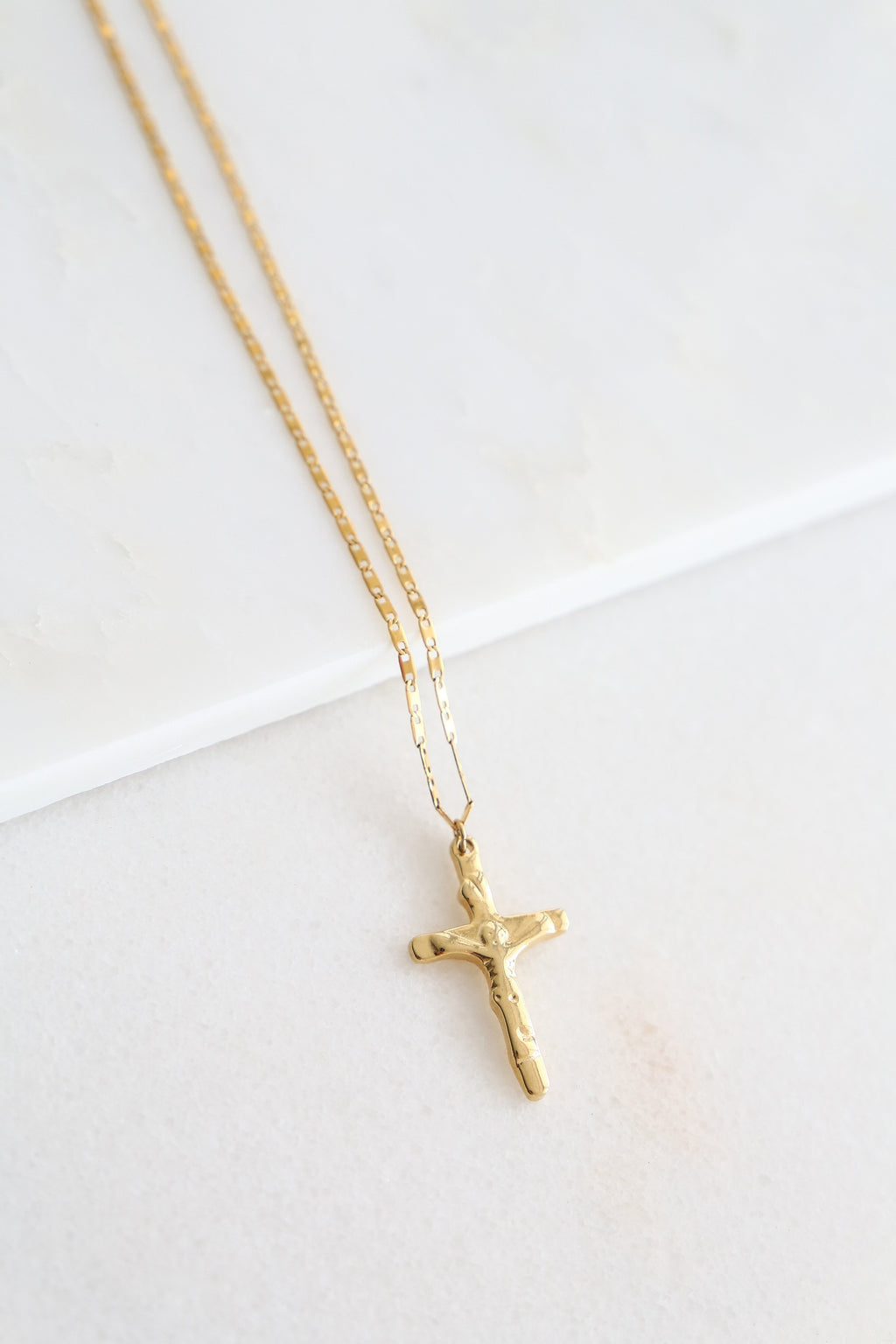 Simple Long Cross Necklace - Boutique Minimaliste