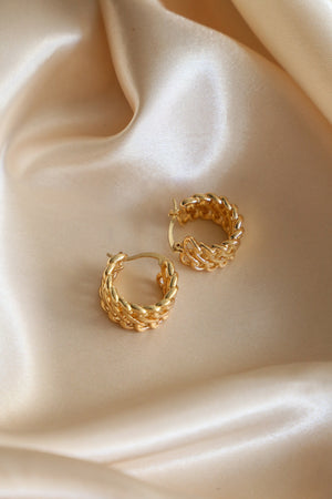 Soleil Hoop Earrings - Boutique Minimaliste