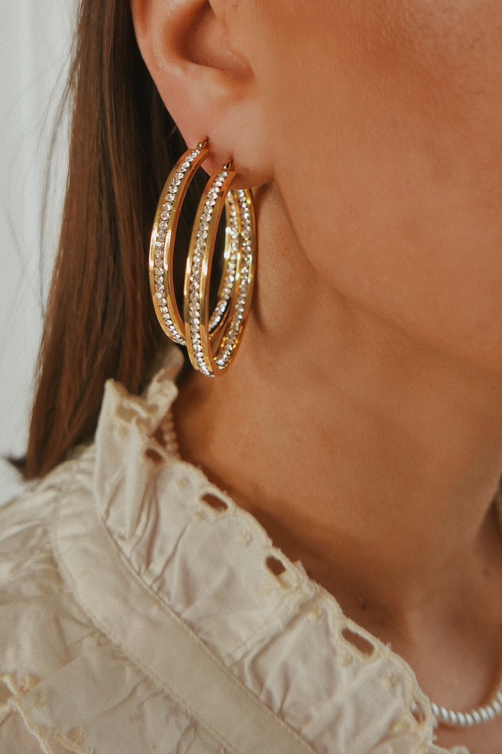 Sparkly Hoop Earrings - Boutique Minimaliste