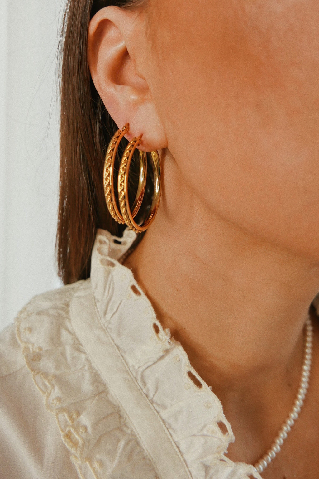 Stella Hoop Earrings - Boutique Minimaliste