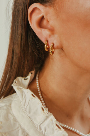 Sunshine Hoop Earrings - Boutique Minimaliste