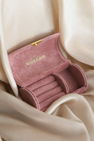 Tiny Jewelry Travel Case - Pink - Boutique Minimaliste