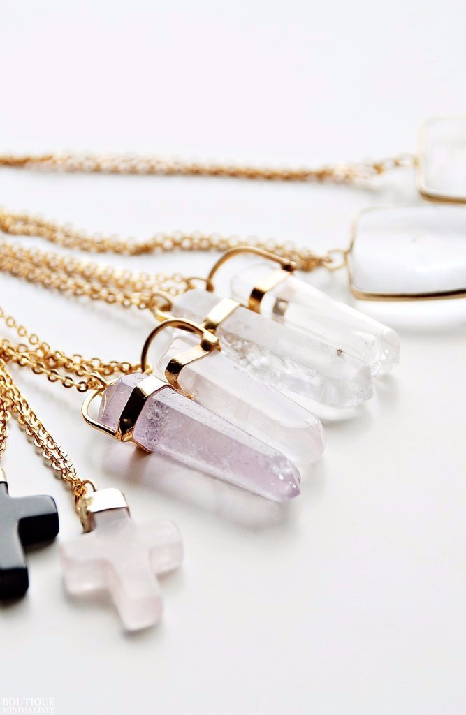 Vintage Crystal Necklace - Boutique Minimaliste