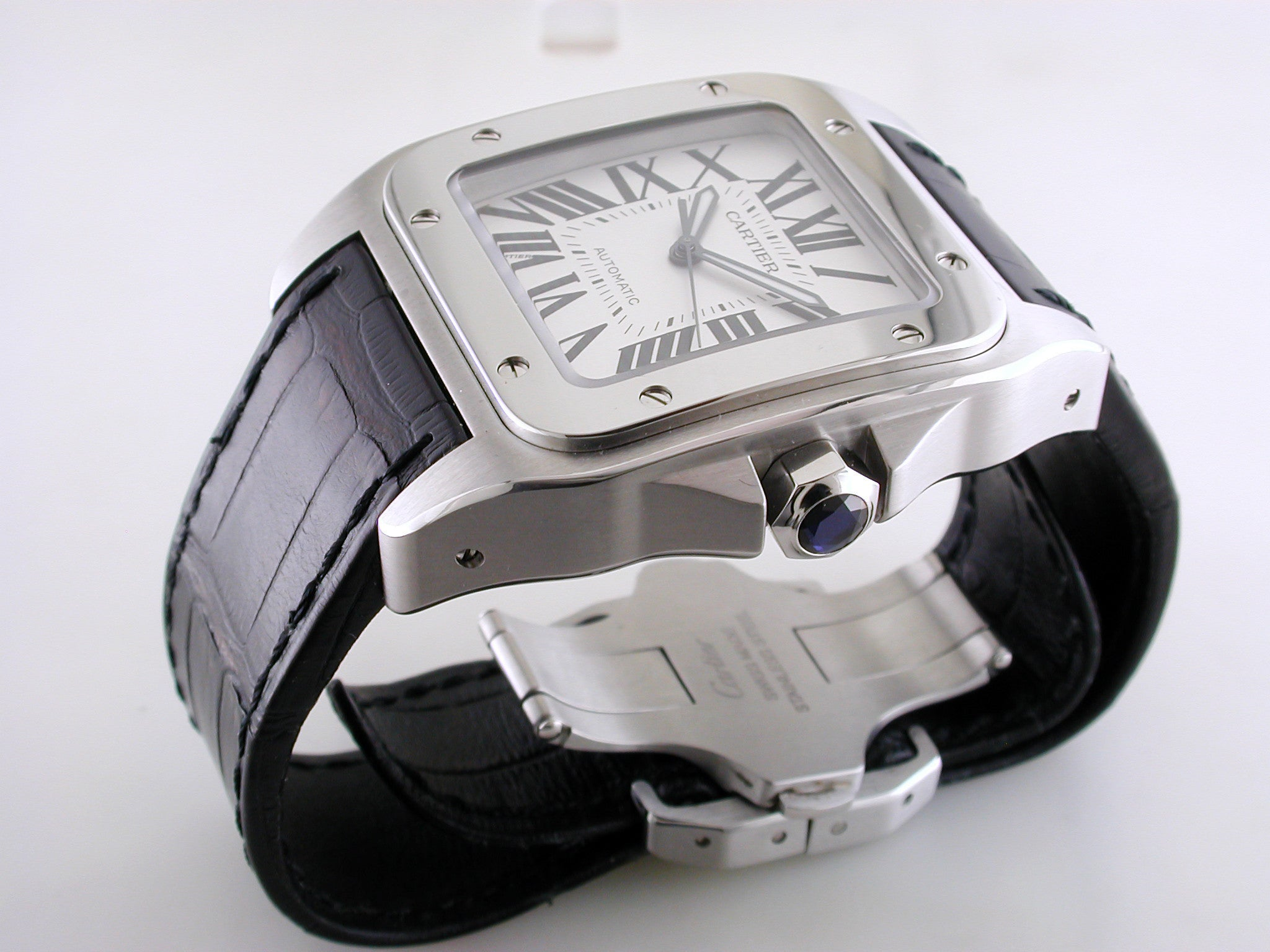 Cartier Santos 100 Xl >> Cartier Santos 100 Xl Stainless Steel Watch Certified Pre Owned