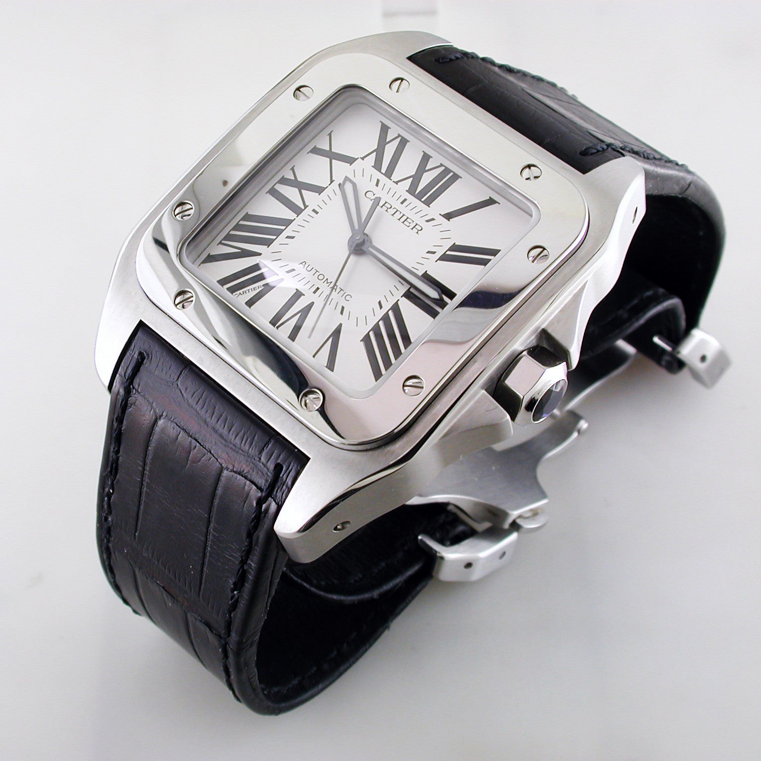 a3c1eb2e9a0 Cartier Santos 100 XL Stainless Steel Watch Certified Pre-owned W20073X8  41.3mm