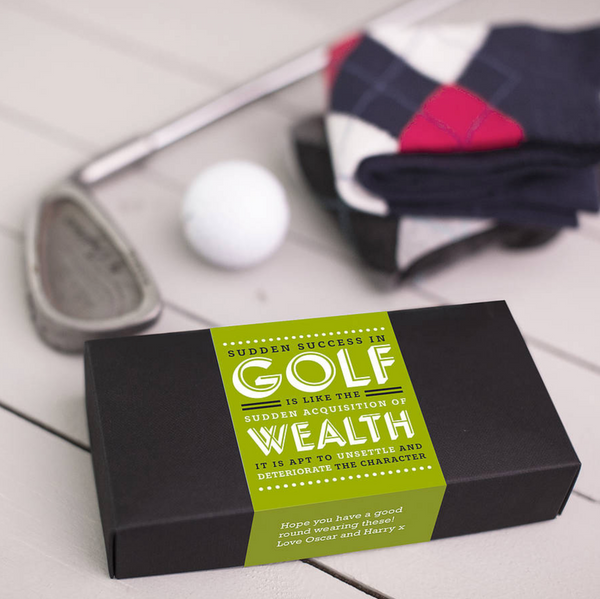 CORPORATE GIFT SOCKS - ARGYLE GOLF SOCKS