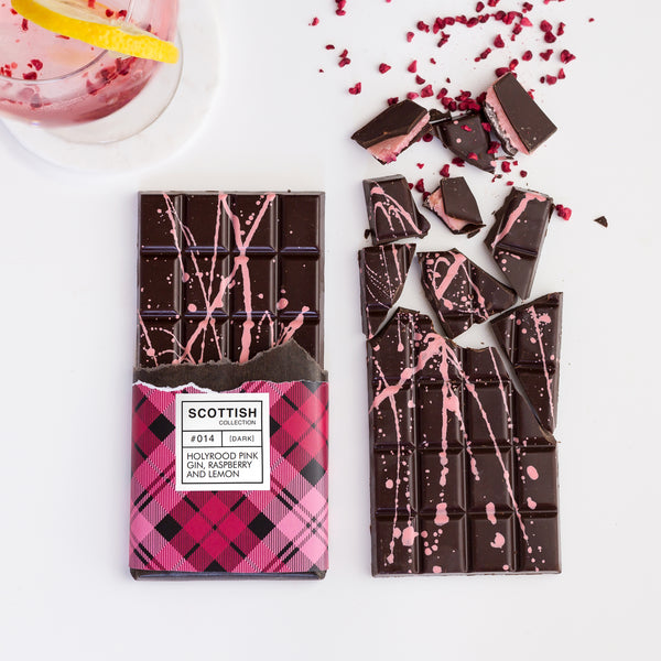 Holyrood Gin, Raspberry & Lemon Chocolate Bar