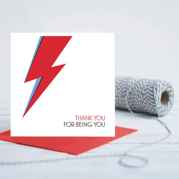 Bowie Inspired Thank You Card