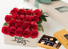Red Roses Gift Box 18 & Chocolates