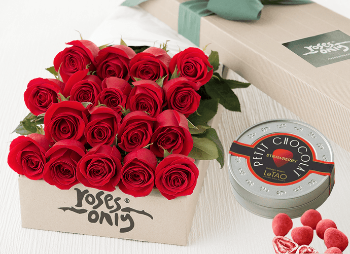 18 RED ROSES GIFT BOX &  LETAO PETIT CHOCOLATE
