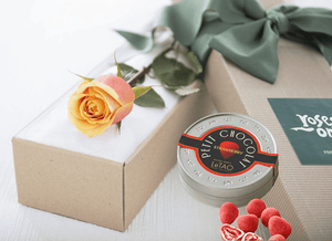 Single Cherry Brandy Rose Gift Box & Chocolates