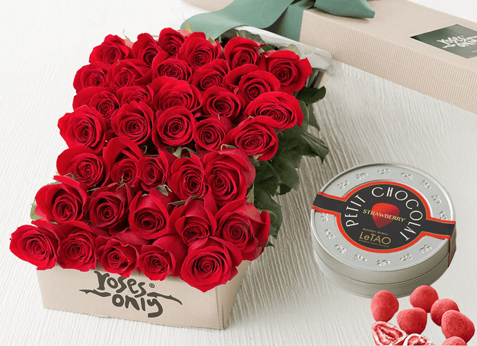 Red Roses Gift Box 36 & Chocolates