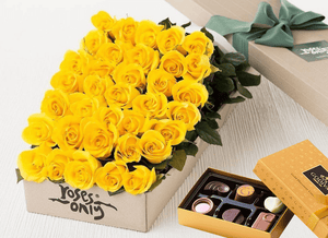 Yellow Roses Gift Box 36 & Chocolates