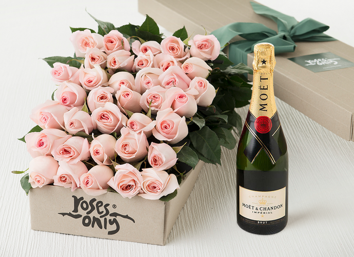 Roses Champagne Gift Boxes Roses Only Sg