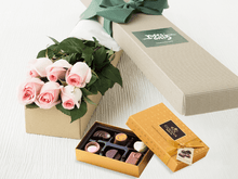 6 Pastel Pink Roses Gift Box &  Chocolates