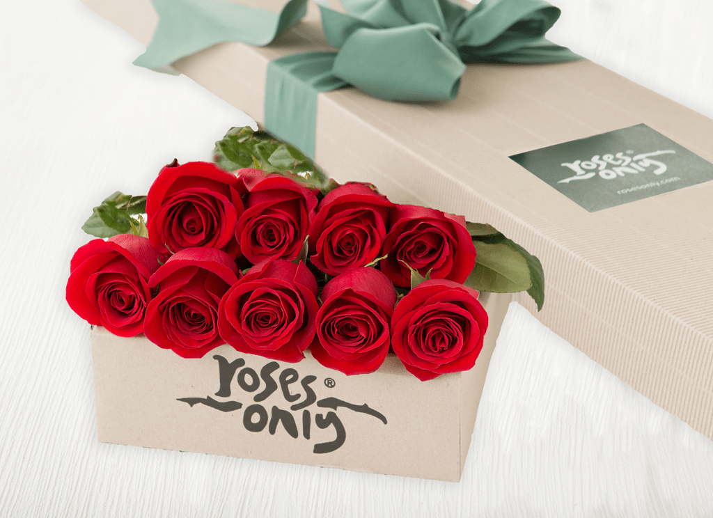 9 Red Roses Gift Box