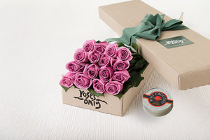 Mauve Roses Gift Box 16 & Chocolates