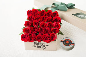 25 Red Roses Gift Box & Letao Petit Chocolates