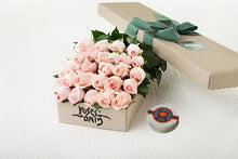 Pastel Pink Roses Gift Box 25 & Chocolates