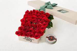 40 RED ROSES GIFT BOX &  LETAO PETIT CHOCOLATE