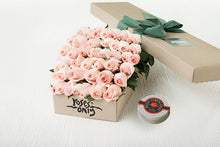 40 Pastel Pink Roses Gift Box &  Chocolates